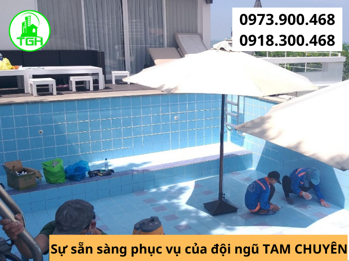 Dịch vụ ron hồ bơi tại HCM
