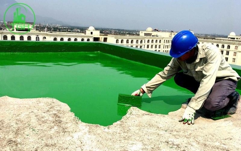 quét sơn epoxy thi công chống thấm sân thượng